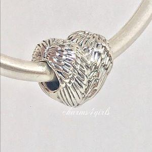 Authentic Pandora Angelic Feathers Charm